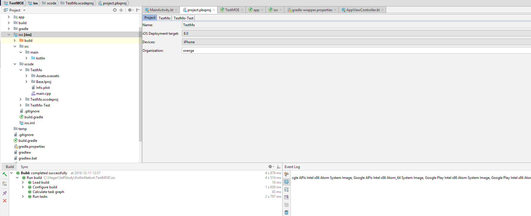 Can't open xcode editor in android studio! - Bug - Multi-OS Engine